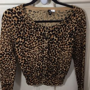 H&M leopard print cardigan